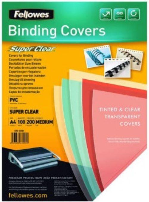 caja 100 tapas de encuadernación a4 pp 500 micras translucidas 0438595179472