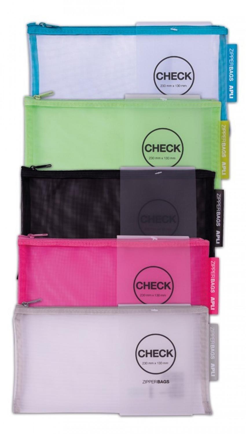 C/20 bolsas zipper check con cremallera colores surtidos 23cm x 13cm 1410782180255