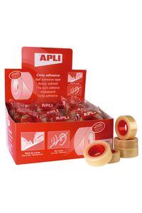 Exp 35 rollos cinta adhesiva transparente 33mX19mm Apli 1841078211108