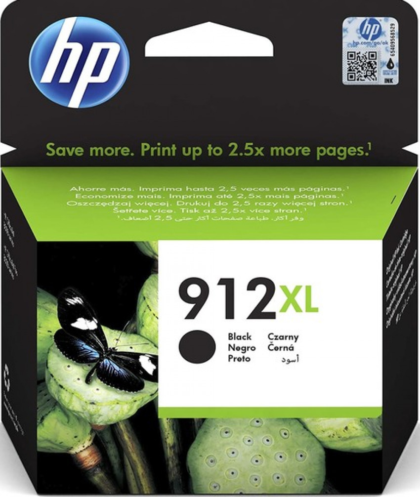 CARTUCHO TINTA ORIGINAL HP 912XL NEGRO 3YL84AE 1925458669960