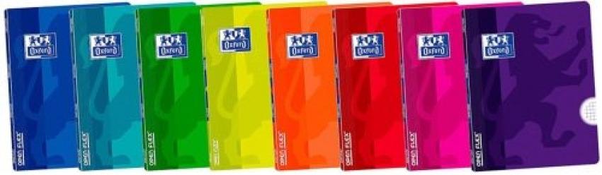 Paq/10 libretas openflex a4 48h. 90g. cuad.4x4 c/m tapa plastico oxford 3020120043166