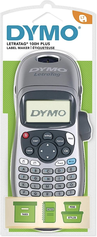 Rotuladora dymo letratag LT-100h silver incluye 4 pilas (AA)
