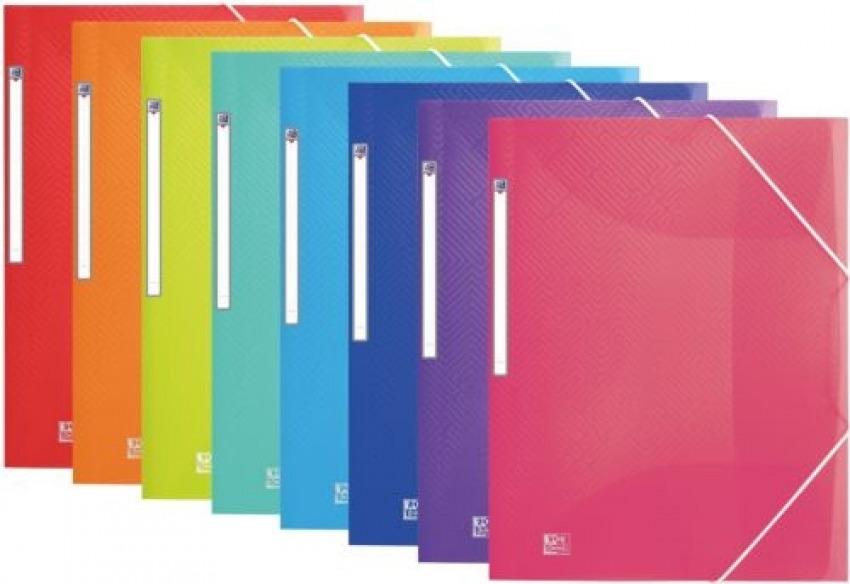 Paq/10 carpeta carton A4+ gomas y solapas urban surtidos con tapa de plastico 3045050456374