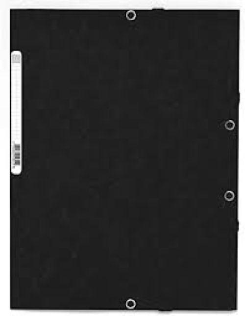 Carpetas a2 gomas y solapas carton lustrado color negro 3130630596516