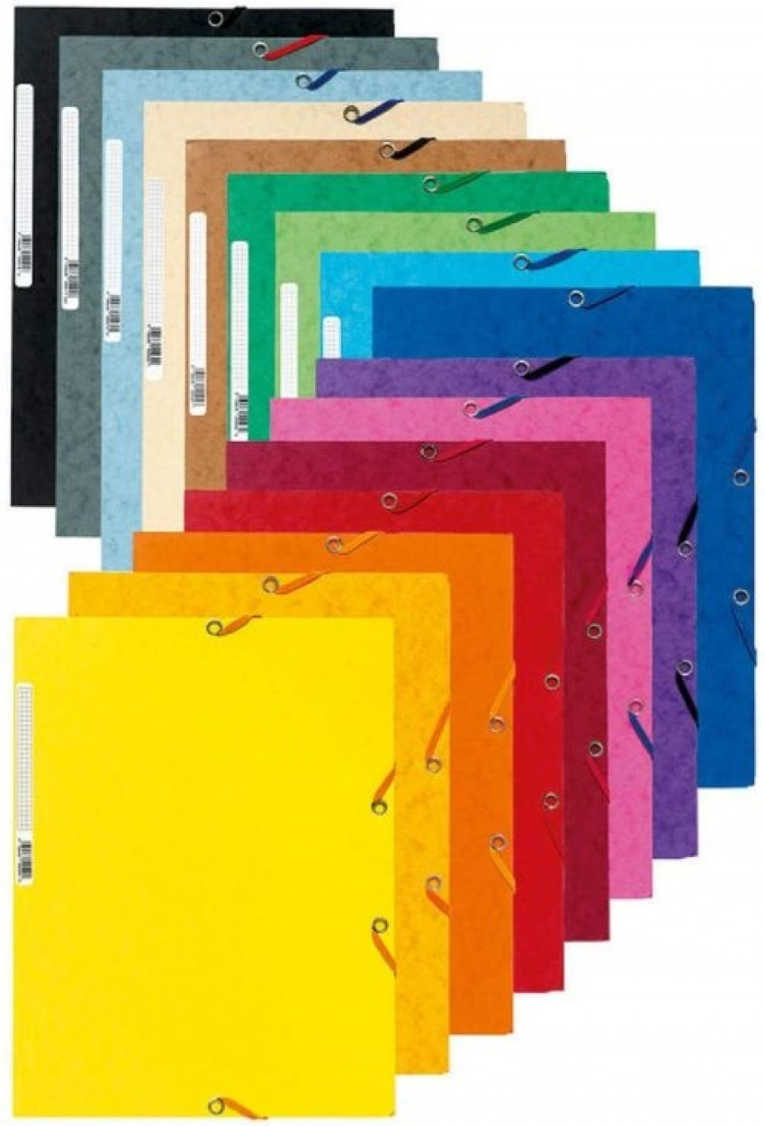 C/50 carpeta a4 carton gomas y solapas colores surtidos 3130631555000