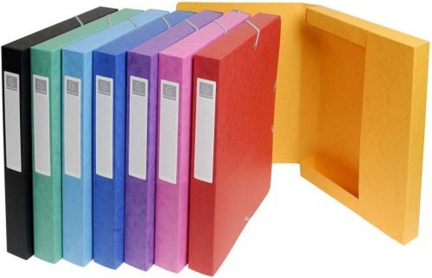 C/8 carpetas de proyectos 24x33cm lomo 25mm carton lustrado colores surtidos 3130632503000