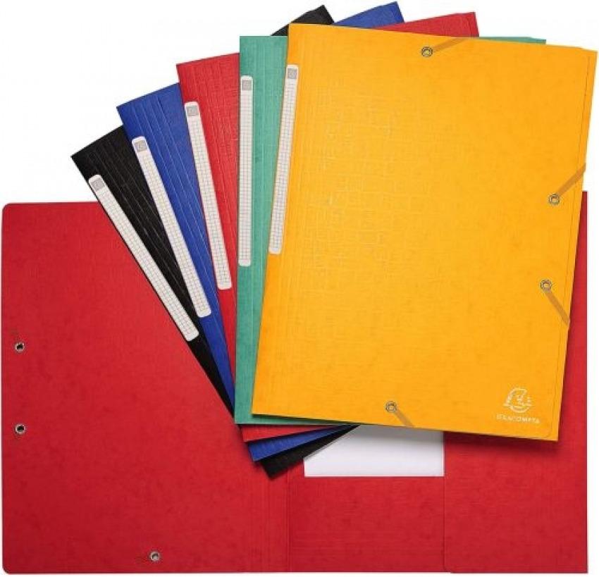 Paq/25 carpeta a4 carton gomas y solapas scotten colores surtidos 3130633559501