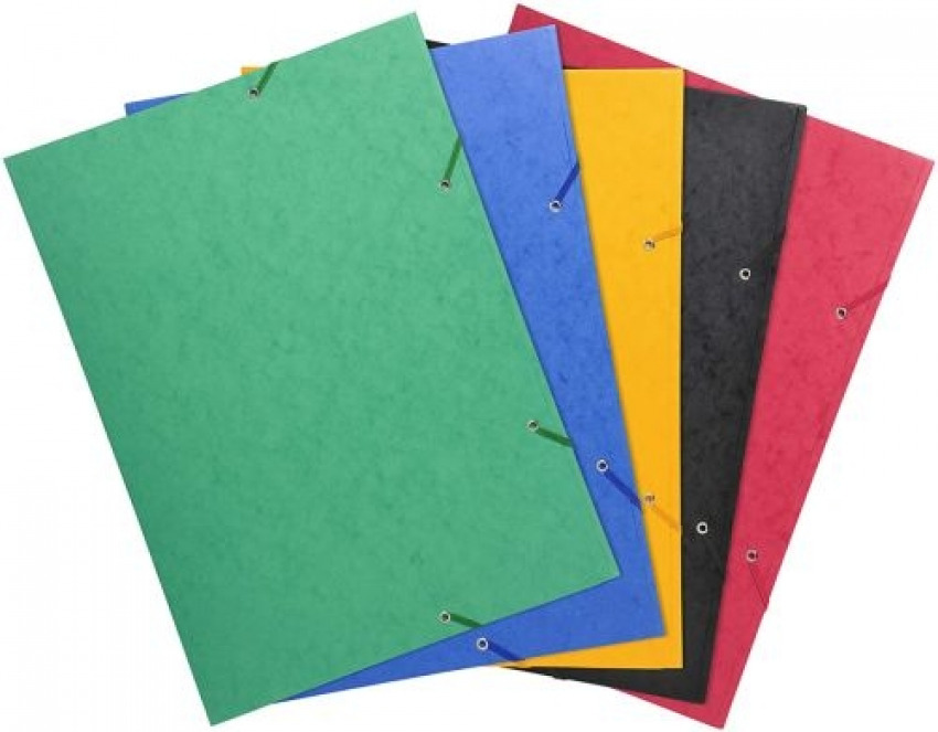 Paq/5 carpeta a3 gomas y solapas carton lustrado colores surtidos 3130636595001