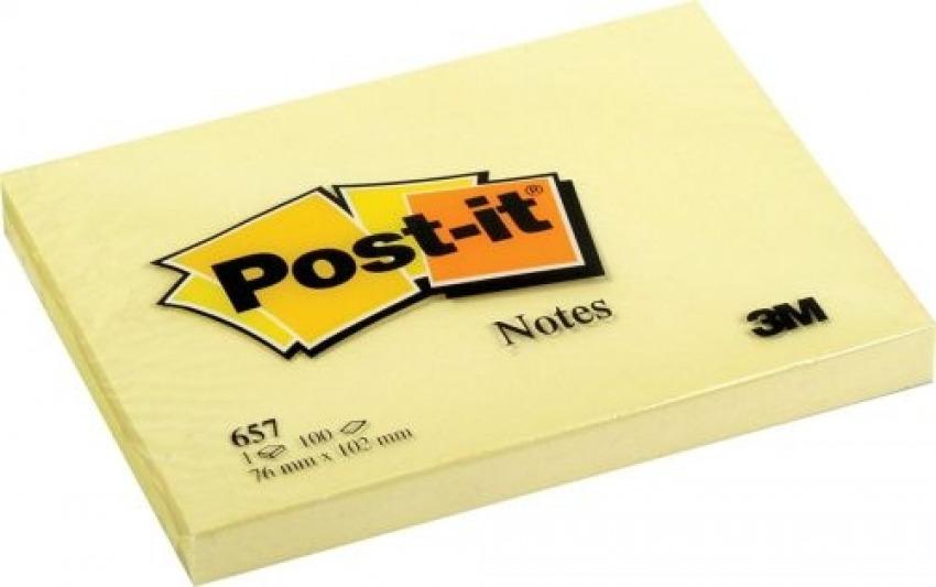 PACK 12 TACOS NOTAS POST-IT 657 AMARILLAS 76X102MM 3134375014212