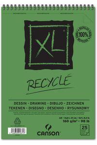 Bloc dibujo Canson XL reciclado A5 25 hojas 160 gramos 3148950018717