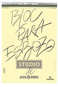 Bloc espiral de esbozo studio a5 50h 90g. grano fino microperforado 3148950044945
