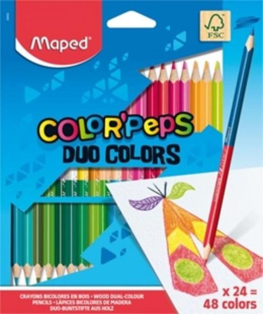 Estuche 24 lapices colores color peps duo fsc maped