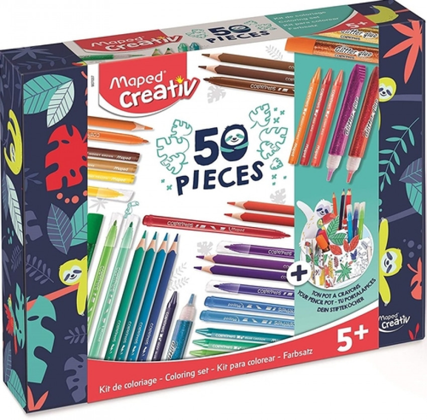Estuche 50 piezas surtidas maped creativ kit 3154149070374