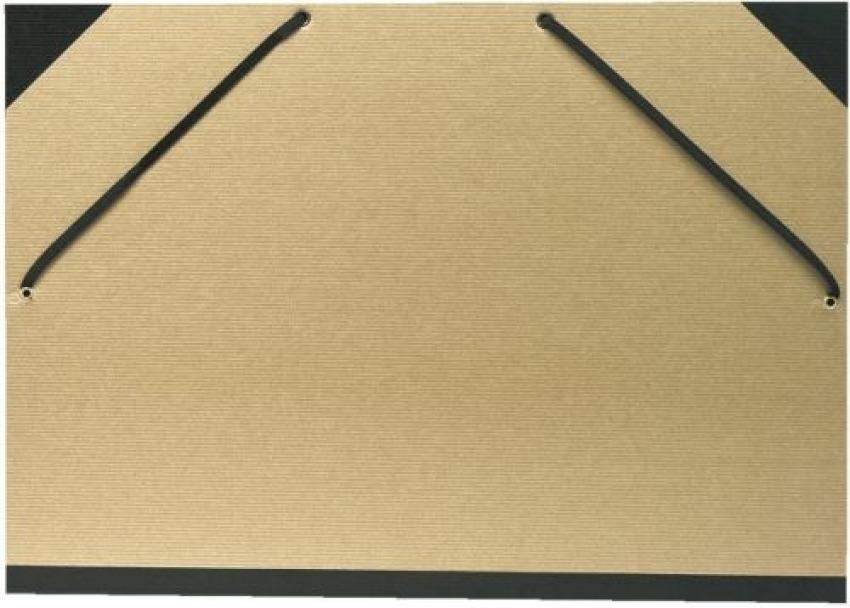 Carpeta dibujo carton con gomas a3 kraft natural con lomo y cantos de tela 3157406605968