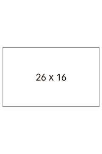 Paq/6 rollos de etiquetas blancas 26x16mm removibles apli 3270241009194