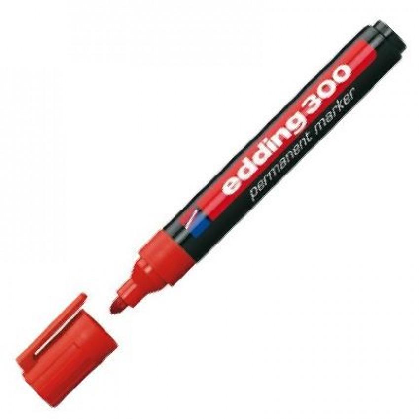 c/10 rotulador edding 300 rojo marcador permanente 4004764062867