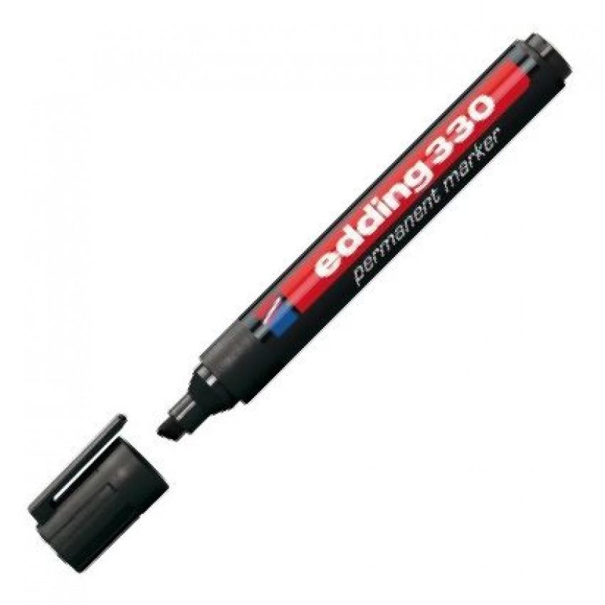 c/10 rotulador edding 330 negro marcador punta biselada 4004764062973