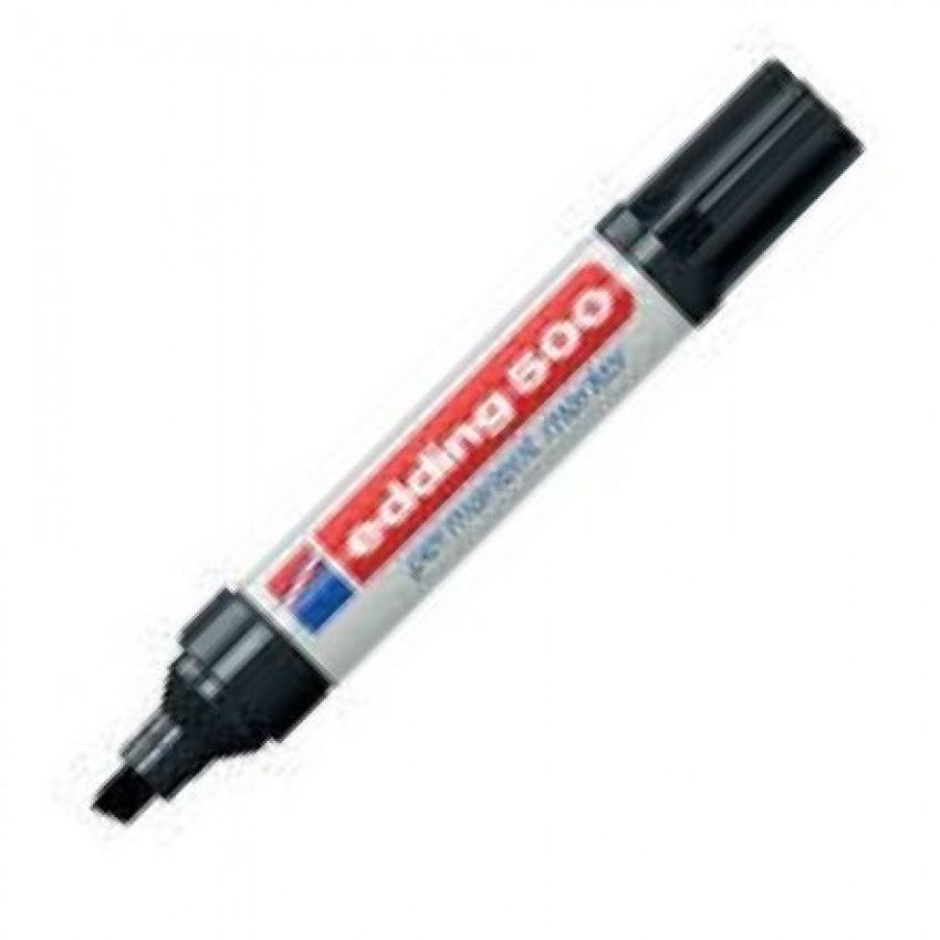 c/10 Rotulador Edding 500 negro marcador punta biselada 4004764426591