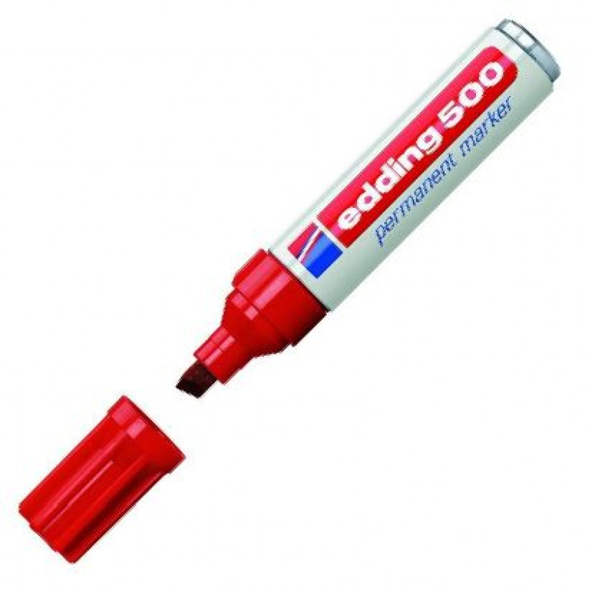 c/10 Rotulador Edding 500 rojo marcador punta biselada 4004764426607
