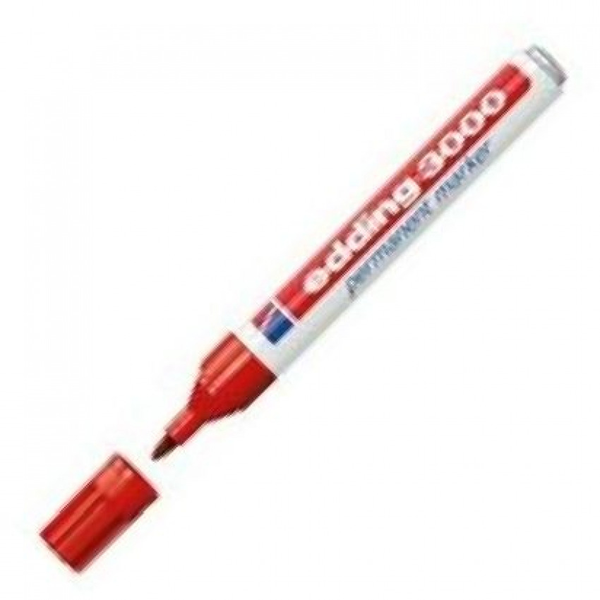 c/10 Rotulador Edding 3000 rojo marcador permanente 4004764427086