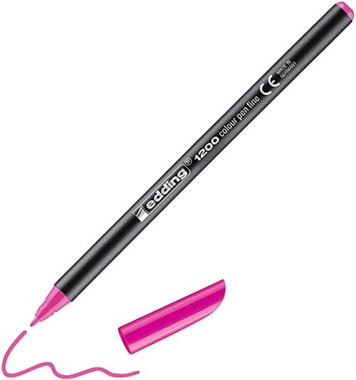 c/10 rotulador edding 1200 rosa neon 69 punta de fibra 4004764828449