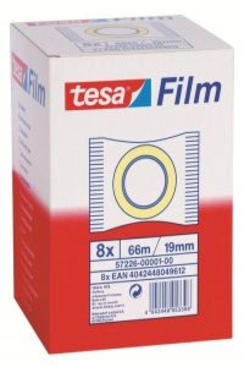 C/8 rollos tesafilm standard 66mX19mm bolsita tesa 4042448053398