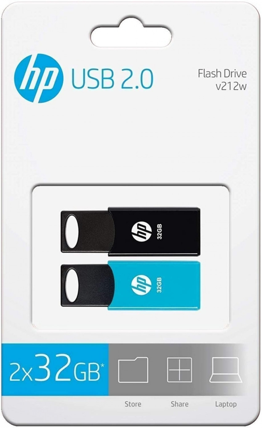 PACK 2 PENDRIVE 32GB USB 2.0 HP 4712847098534