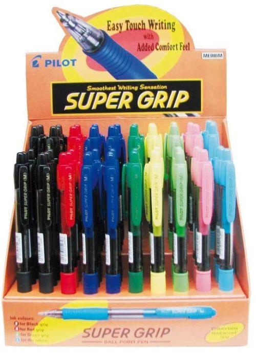Expositor 60 boligrafos supergrip 1,0 mm. colores surtidos 4902505161445