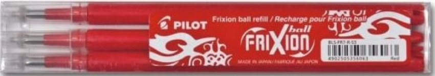 PACK/3 RECAMBIOS BOLIGRAFO PILOT FRIXION BALL ROJO 0,7MM 4902505356063
