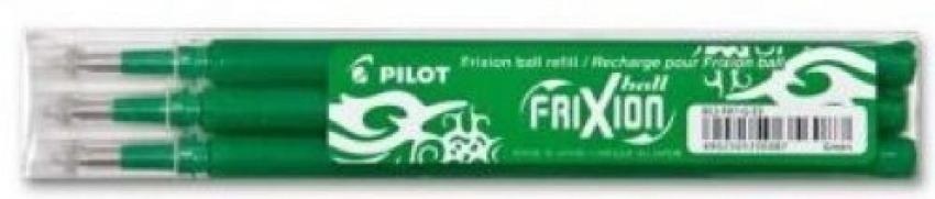 PACK/3 RECAMBIOS BOLIGRAFO PILOT FRIXION BALL VERDE 0,7MM 4902505356087