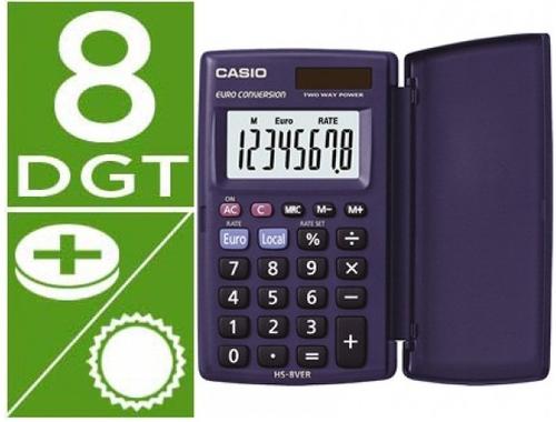 Calculadora basica hs-8ver solar/pilas casio 4971850188728