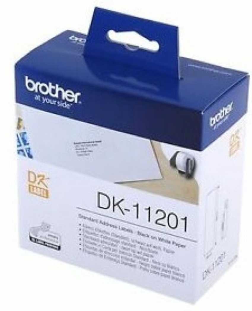 ROLLO 400 ETIQUETAS PAPEL 29MMX90MM BROTHER DK11201 4977766628112