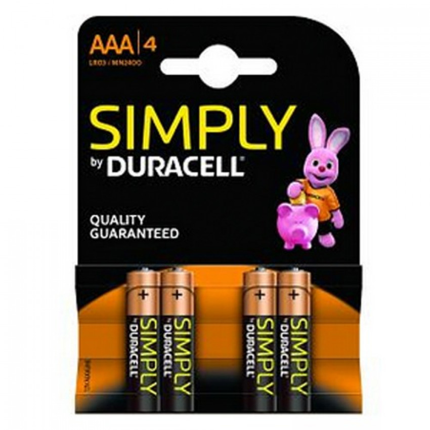 BLISTER 4 PILAS DURACELL SIMPLY LR3 AAA 5000394002432