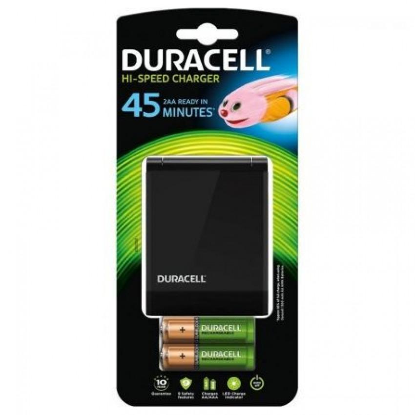 Cargador multiple de alta velocidad duracell + 2 pilas recargables AA + 2 AAA 5000394036529