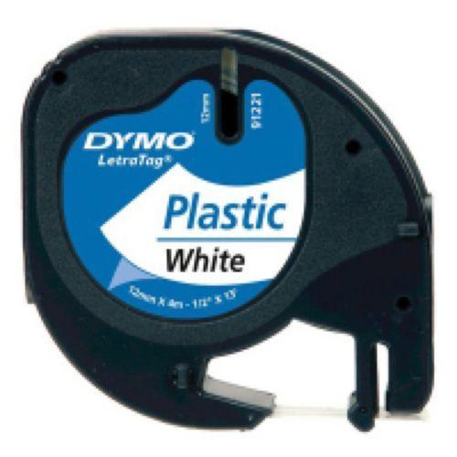 CINTA DYMO LETRATAG PLASTICO NEGRO/BLANCO 12MMX4M 5411313912211