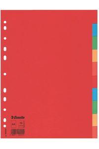 Bolsa separadores a4 10 pestañas multitaladro carton 150 g 5902812002010