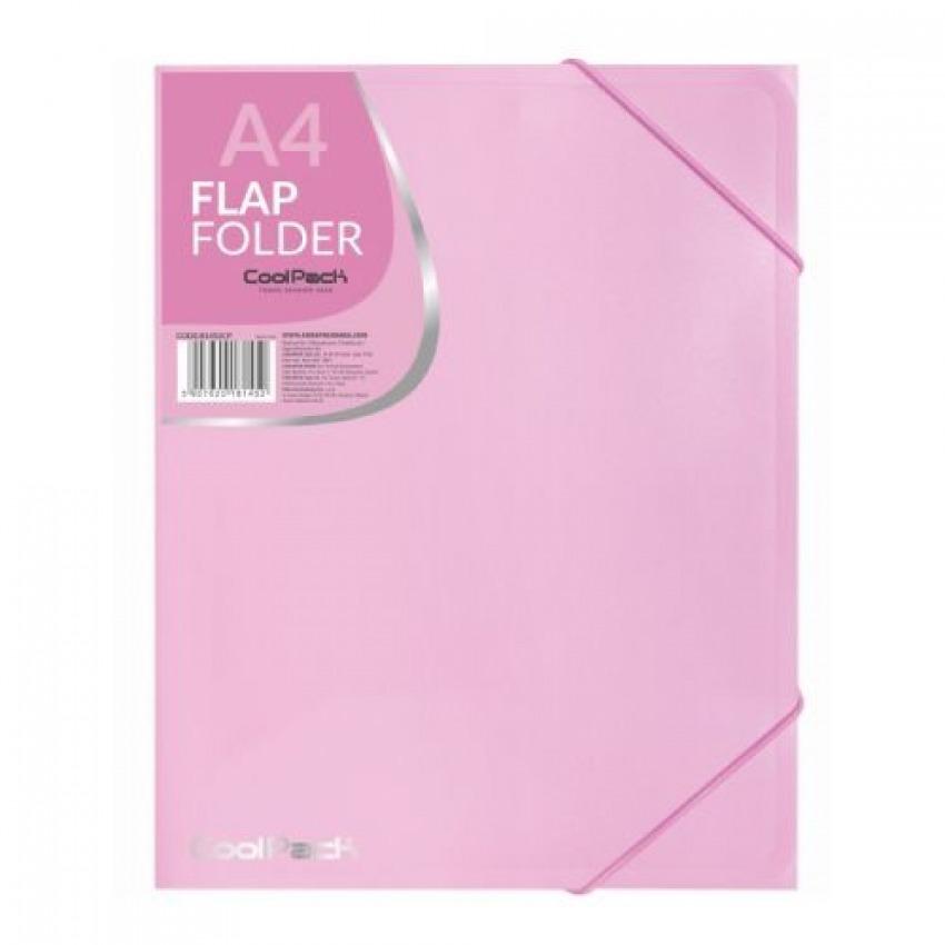 Carpeta a4 gomas y solapas pp color rosa pastel 5907620181452