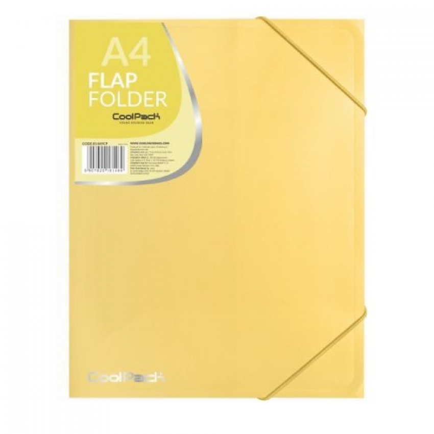 Carpeta a4 gomas y solapas pp color amarillo pastel 5907620181469