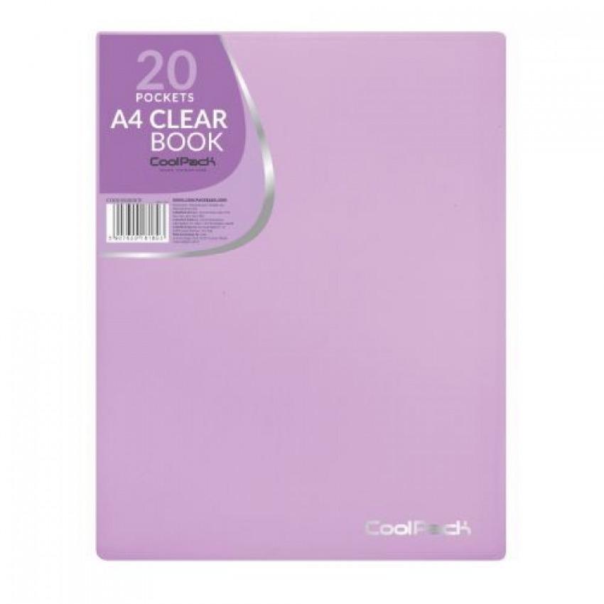 Carpeta 20 fundas a4 soldadas tapa flexible coolpack color morado pastel 5907620181803