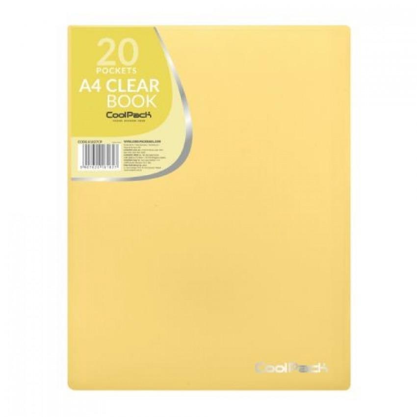 Carpeta 20 fundas a4 soldadas coolpack color amarillo pastel 5907620181827