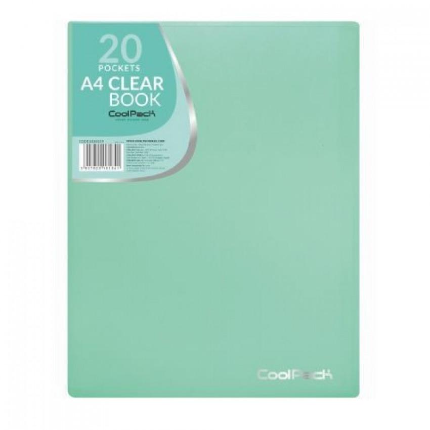 Carpeta 20 fundas a4 soldadas coolpack color verde pastel 5907620181841