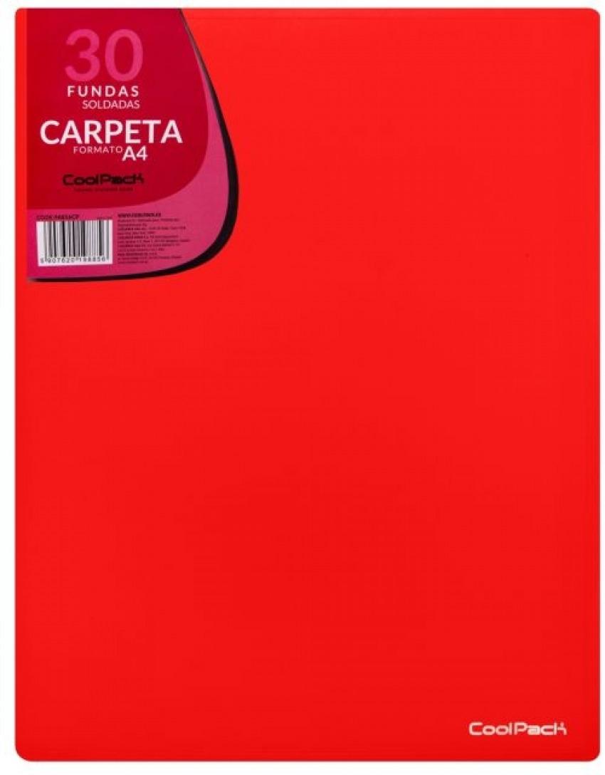 CARPETA 30 FUNDAS SOLDADAS A4 COLOR ROJO COOLPACK 5907620198856