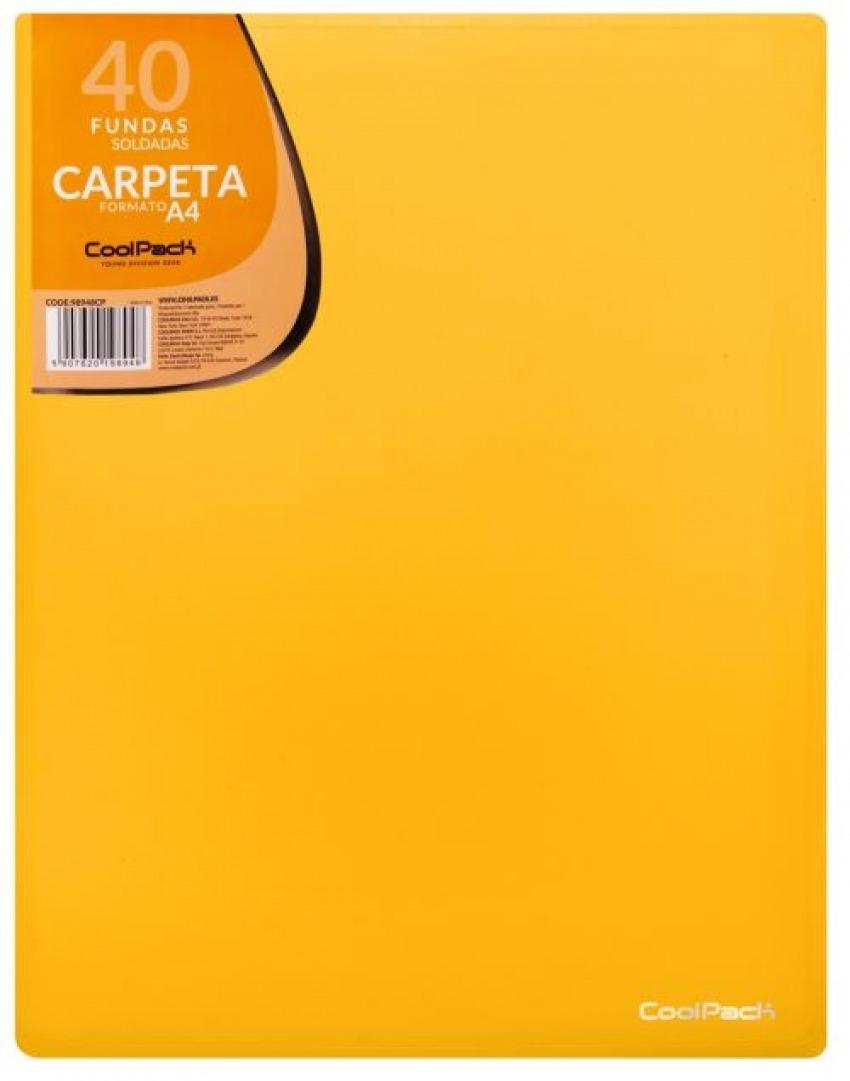 CARPETA 40 FUNDAS SOLDADAS A4 COLOR AMARILLO COOLPACK 5907620198948
