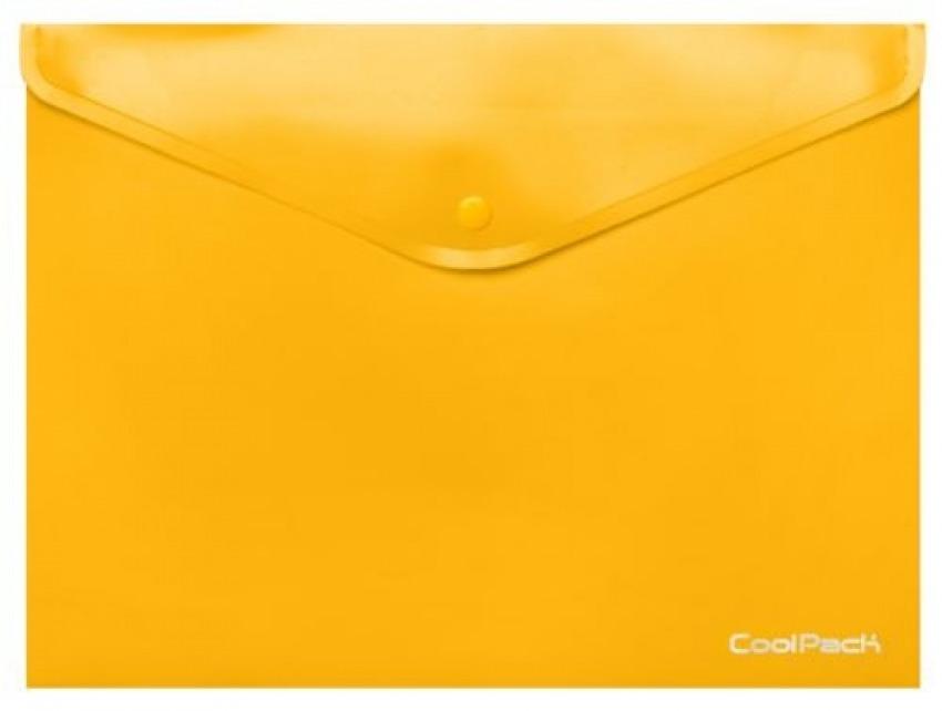 Paq/10 carpeta sobre a4 cierre broche pp amarillo coolpack 5907620198993