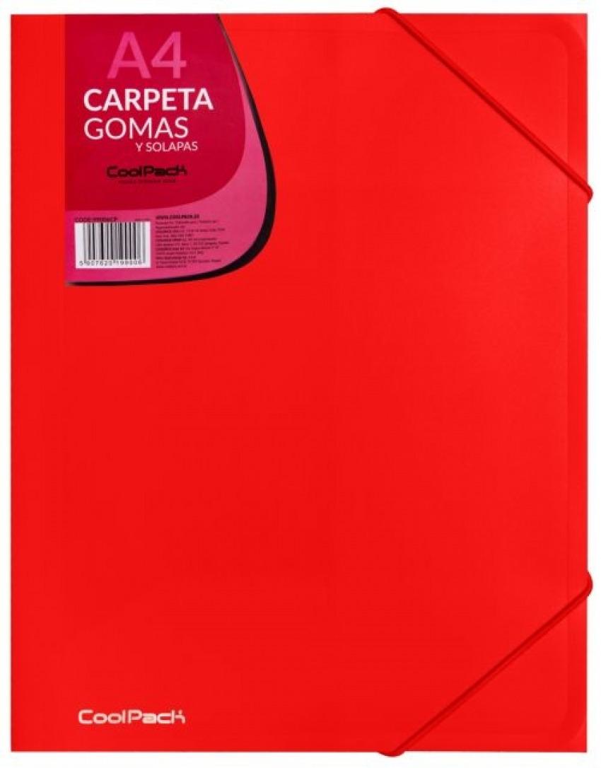 CARPETA GOMAS Y SOLAPAS A4 PP COLOR ROJO COOLPACK 5907620199006