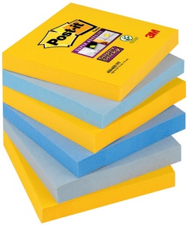 PACK/6 TACOS NOTAS POST-IT 76X76 654 SURTIDOS NY 6380606528318
