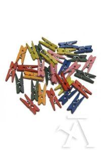 Paq/30 pinzas madera colores surtidos 6923980351303