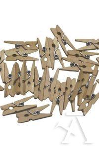 Paq/30 pinzas madera natural 6923980352201