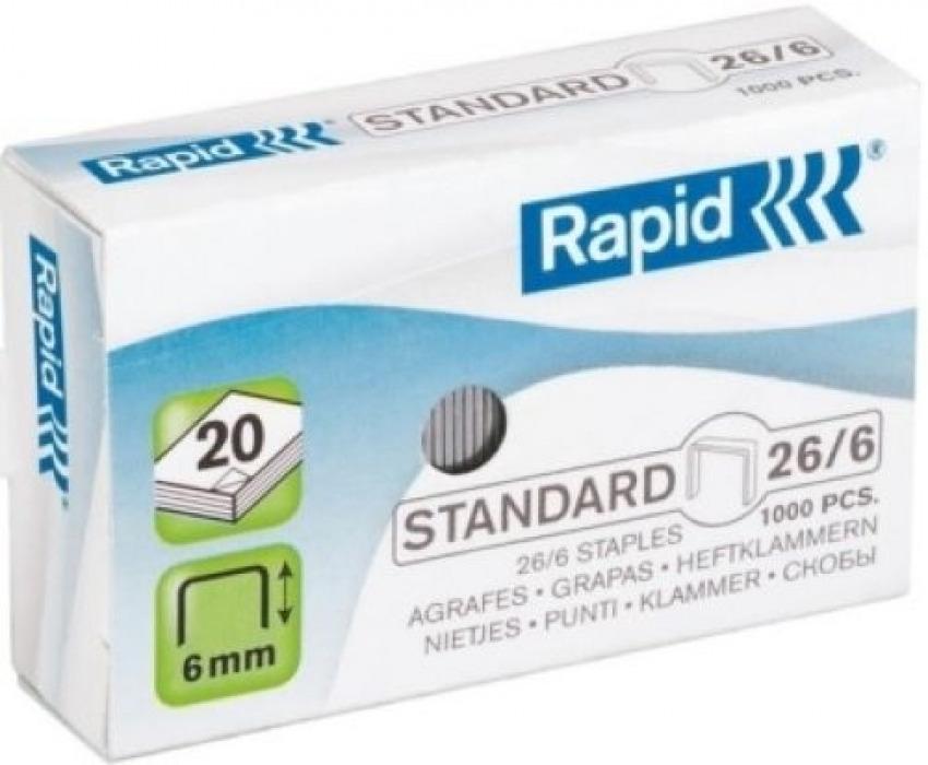 C/20 cajas de 1000 grapas galvanizadas 26/6 rapid 7313469613005