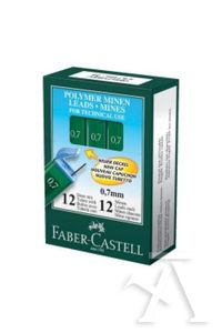 C/12 TUBOS MINAS 0,7MM HB POLYMER FABER-CASTELL 7891360467830